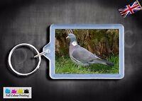 Wood Pigeon bird Key ring Keyrings Premium Quality Wildlife Split Rings Gift