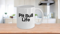 Pit Bull Mug White Coffee Cup Funny Gift for Dog Mom Dad Lover Owner