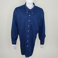 Oak Hill Men's Blue Wrinkle Free Cool & Dry Long Sleeve Button Down Siize 4XL