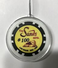 The Sands Hotel Las Vegas $100 Poker Chip Christmas Ornament Holiday Casino