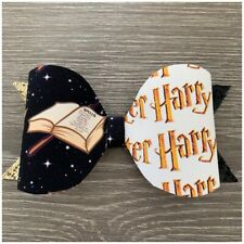 """handmade 3.7-4"""" Harry Potter Glitter/fabric Bow- Perfect Gift For HP Fans"""