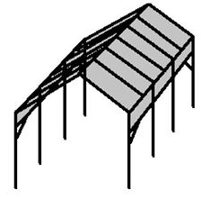 ☀☀►Make-Your-Own RV Portable Carport Shelter Frame kit - from 21' to 30' long