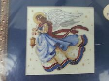 Angels Light Your Way Counted Cross Stitch kit pre cut mat and printed verse