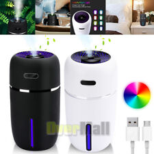 Portable USB LED Light Air Humidifier Diffuser Aroma Mist Oil Purifier Car 200ml