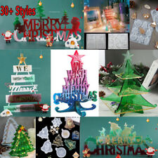 Silicone Christmas Ornaments Jewellery Casting Mold Resin Epoxy Mould Craft Tool