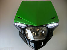 UFO verde camino legal Faro Enduro Streetfighter Kawasaki Kdx Kmx Klx Kdx ZXR