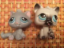 LITTLEST PET SHOP Lot Of 2 Cats- #53 Grey Tabby & 2005 Motion Cat