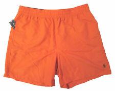 "POLO RALPH LAUREN men's HAWAIIAN SWIM SHORTS Trunks SWIM Boxers 6"" Orange XL nwt"