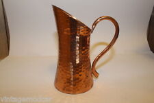 Weeda Tasmania, Old Australian Handmade Hammered Copper Pitcher, Excellent Cond