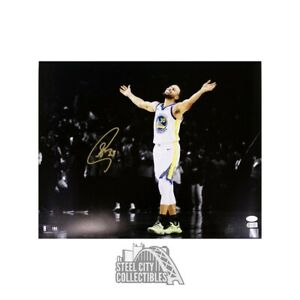 Stephen Curry Autographed Golden State Warriors 16x20 Photo - JSA COA (Arms Up)