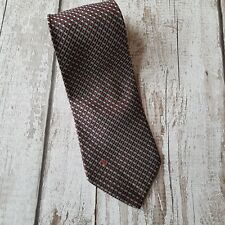 Valentino 100% silk men tie burgundy/blue/silver made in Italy