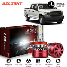LED Headlight Kit H11 6000K White Low Beam Bulbs Fit 2015-2019 FORD F-150