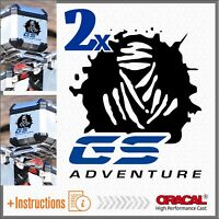 2x DAKAR GS ADVENTURE Black/Blue ADESIVI STICKERS BMW R 1200 1150 F800 F650 F700