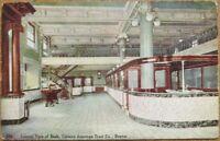 Denver, CO 1910 Postcard: German-American Trust Co. Bank Interior - Colorado