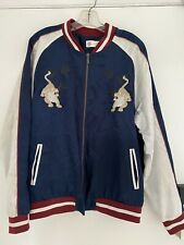 Standard Issue Embroidered Chinese Tiger Satin Souvenir Jacket Mens Medium