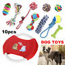 10X Dog Toys Bite Ball Chew Rope Durable Training Pet Puppy Toy Set Clean Teeth