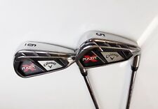 Set of 2 x Callaway RAZR X Irons 5 & 6 Uniflex Steel Shafts