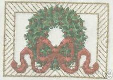"The Spirit of Christmas Wreath Cross Stitch Kit - Janlynn - 14 Count - 7"" x 5"""