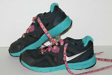 Nike Lunarsglide 3 (PS) Running Shoes, #454574-003, Dk gry/Blu/Pink ,Youth 3 Y