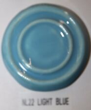 Nl 22 Light Blue Gloss Glaze Cone 06/04, Pound Lot Of 8
