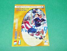 FRANCE PARAGUAY 98 PETIT EQUIPE FRANCE BLEUS PANINI FOOTBALL CARD 2002