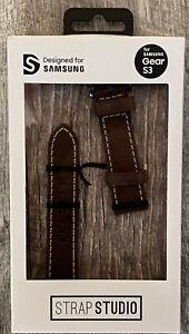 Samsung Studio Leather Wrist Strap for Samsung Gear S3 Classic Frontier - Brown