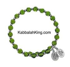 Wind & Fire 6mm Olivine Green Crystal With Spacer Bead Stackable Bangle Bracelet