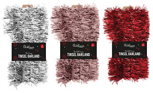 5M CHRISTMAS TINSEL GARLAND Luxury Chunky Thick Thin Tree Home Party Decorations