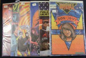 ROCK N ROLL REVOLUTIONARY MUSIC LOT 9 COMICS HEAVY METAL ANTHRAX HALEN 1989 VF-