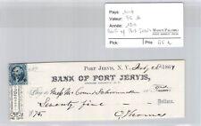Ticket USA - Bank of Port Jervis - 75 Dollars 1864