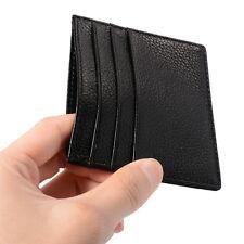 Men Super Slim Thin Flat Light Credit Card Holder Case Front Pocket Wallet MT250