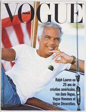 RALPH LAUREN 25 yrs fashion DECORATION Hommes PARIS VOGUE magazine BRUCE WEBER