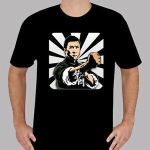 New IP MAN Donnie Yen Action Movie Kung Fu Men's Black T-Shirt Size S to 3XL