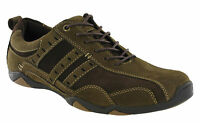 Roamers Casual Leather Shoes Suede Waxy Mens Driving Lace Up Brown Cushioned