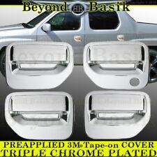 2006-2014 HONDA RIDGELINE Chrome Door Handle Covers 4 Doors Overlays Trim Accent