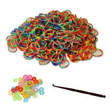 600 Loom Bands TIE DYE Kit Bracelet Multicolour Includes Hook Tool 24 Clips Tye