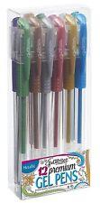 Gelwriter Premium GEL PENS METALLIC pen 12 pack Metallic