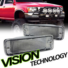 For 89-95 Toyota Pickup Truck Chrome Turn Signal Parking Bumper Lights Lamps