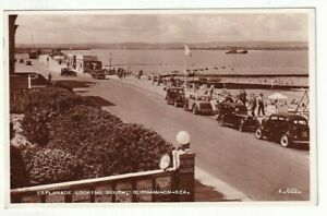A Valentine's Real Photo Post Card of Esplanade Looking South, Burnham-On-Sea.