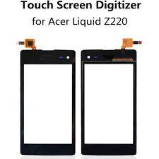 ACER LIQUID Z220 PANTALLA TACTIL TOUCH SCREEN DIGITIZER SCHERMO ECRAN BLACK