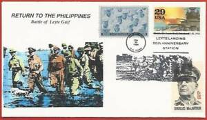 Gen. Douglas MacArthur, Military, WWII, HAND-PAINTED, Leyte Gulf,  Philippines