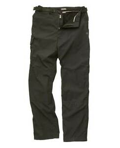 CRAGHOPPERS ORIGINAL MENS KIWI FULLY FLEECE LINED WARM TROUSERS WITH BELT