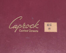 Caprock Photographic Contact Filter Screens for Creating Dot Black & White Print