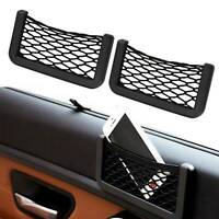 2Pcs Van Truck Car Net Mesh Storage Bag Pocket Organizer Holder Phone/Wallet