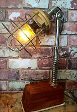 Steampunk Industrial Lamp, Pipes, Cage, LED Edison bulb, Steam punk, filament
