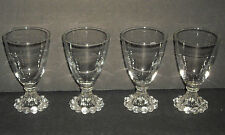 Vintage Anchor Hocking Boopie 4 1/2 Wine Beverage Glasses set of 4