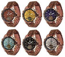 Unisex mechanische - (Handaufzugs) Armbanduhren mit 12-Stunden-Zifferblatt