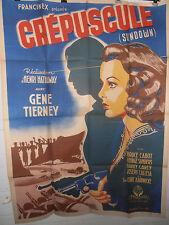AFFICHE CINÉMA ORIGINALE ORIGINAL 1941 GRAND FORMAT CRÉPUSCULE