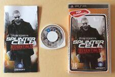 Jeu PSP Sony SPLINTER CELL ESSENTIALS Tom Clancy's PlayStation Portable UMD Disk