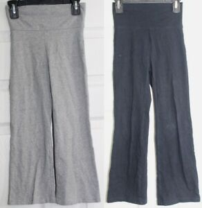 Lot of 2 Youth Girls Size 6 Stretch Cotton Flair Pants Childrens Place Gray Blue